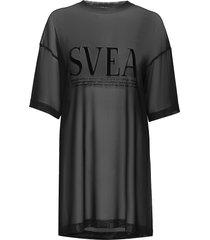w. mesh t-shirt dress kort klänning svart svea