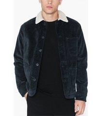 selected homme slhjackson corduroy teddy jacket w jackor mörk blå