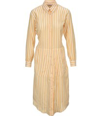 salvatore ferragamo striped shirt dress