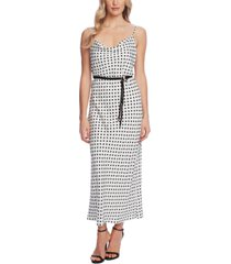 vince camuto dot-print sleeveless dress