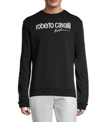 roberto cavalli sport men's logo stretch sweatshirt - black - size s