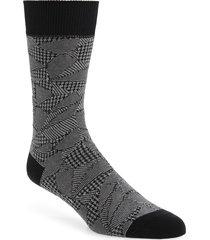 men's issey miyake men crush socks, size one size - black
