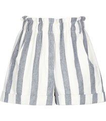 nude denim shorts