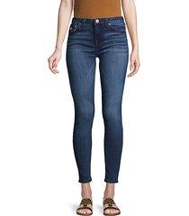 halle big t flap-pocket super skinny jeans