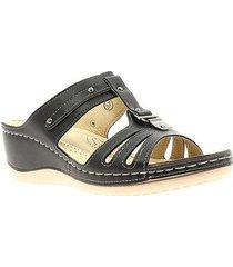 sandalias para mujer marca via spring via spring - negro