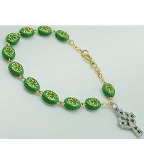 shamrock of ireland rosary bracelet