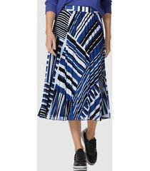 plisserad kjol amy vermont kungsblå::svart