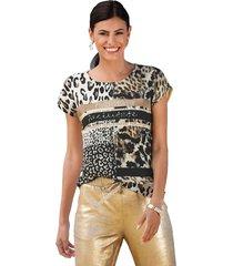 shirt amy vermont beige::zwart