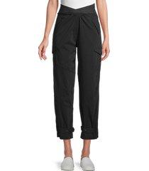 rta women's dallas high-waist cargo pants - black - size 25 (2)
