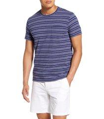 men's bonobos alo stripe pocket t-shirt, size large - blue