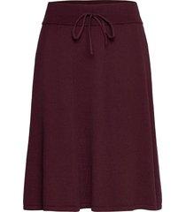 bellacr knit skirt kort kjol röd cream