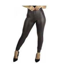 calça cirre mvb modas disco hot pants marrom