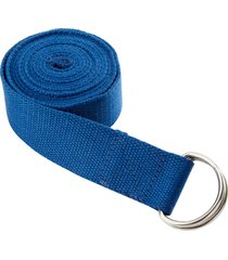 everyday yoga 6 foot strap d-ring lapis cotton/polyester