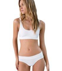 brasier sin copa con fajon ancho diseño en espalda ref 1409o92l off white options intimate