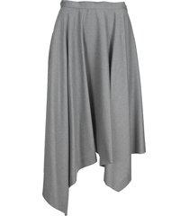 fabiana filippi asymmetric draped knitted skirt