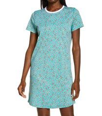 women's roller rabbit buddies t-shirt sleep dress, size x-small - green