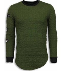 sweater justing d numbered pocket long fit