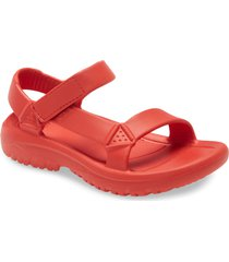 women's teva hurricane drift water friendly sandal, size 10 m - red