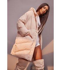 oversized gewatteerde cocoon jas, ecru