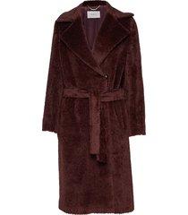 lavagna wollen jas lange jas rood marella