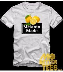 melanin made white t-shirt carbon
