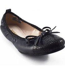 baleta cuero negro versilia antonella