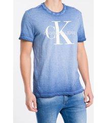 camiseta masculina básica degradê azul médio calvin klein jeans - pp