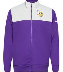 minnesota vikings nike logo long sleeve jacket tunn jacka lila nike fan gear