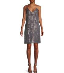 tansie silk & metallic dress