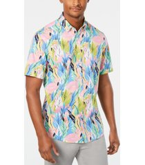 club room men's hayden flamingo graphic shirt, created for macy's