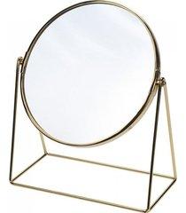 lusterko kosmetyczne na podstawce srebrne