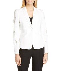 women's akris punto luna cutout blazer
