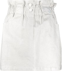 8pm metallized pull-on skirt - silver