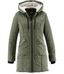 giaccone con cappuccio foderato (verde) - bpc bonprix collection