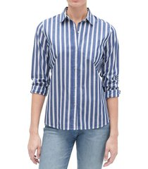blusa rayada azul gap