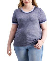 derek heart trendy plus size burnout t-shirt