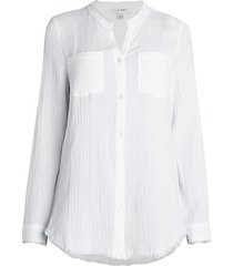 textured gauze shirt