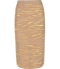stella mccartney animal stripe print skirt