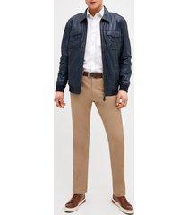chaqueta blue wash leather jacket trial