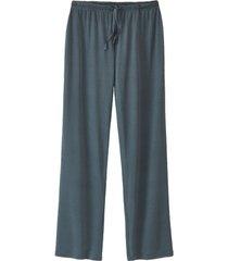 pyjamabroek uit biologische zijde, petrol 34