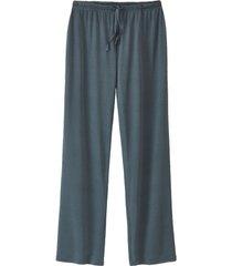pyjamabroek uit biologische zijde, petrol 40/42