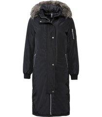 cappotto con cappuccio e bottoni a pressione ai lati (nero) - rainbow