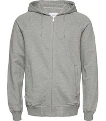 branch hooded sweatshirt hoodie grå makia