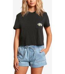 volcom juniors' pocket dial cotton t-shirt