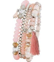 braccialetti (set 4 pezzi) (rosa) - bpc bonprix collection
