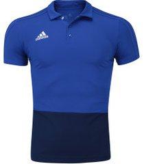 camisa polo adidas condivo 18 - masculina - azul/azul esc