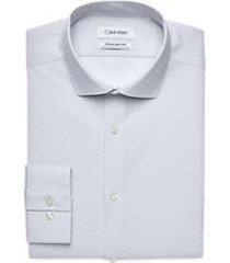 calvin klein infinite non-iron chrome dashed stripe slim fit dress shirt