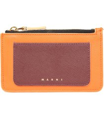 marni flat wallet with logo