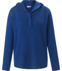 trui van 100% kasjmier met lange mouwen van include blauw