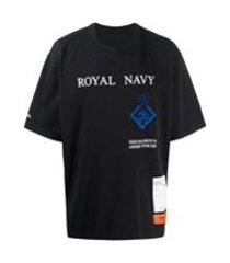 heron preston camiseta com estampa royal navy - preto
